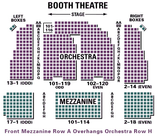 Booth theatre broadway seating chart and access information