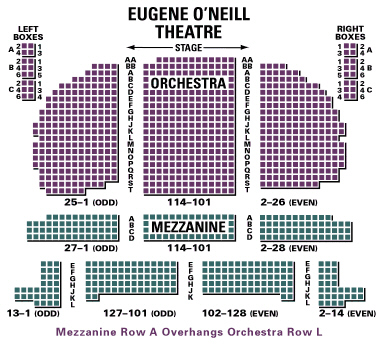Eugene o neill theatre seating chart and access information