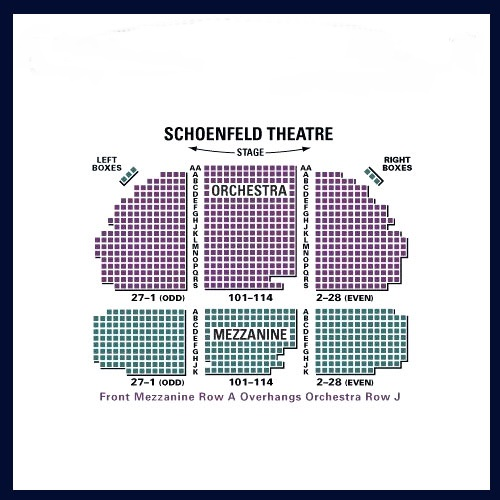 Gerald schoenfeld theatre seating chart and access information