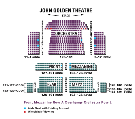 John golden theatre seating chart and access information