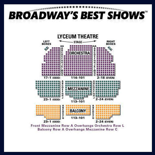 Lyceum Theatre Broadway Seating Chart And Access