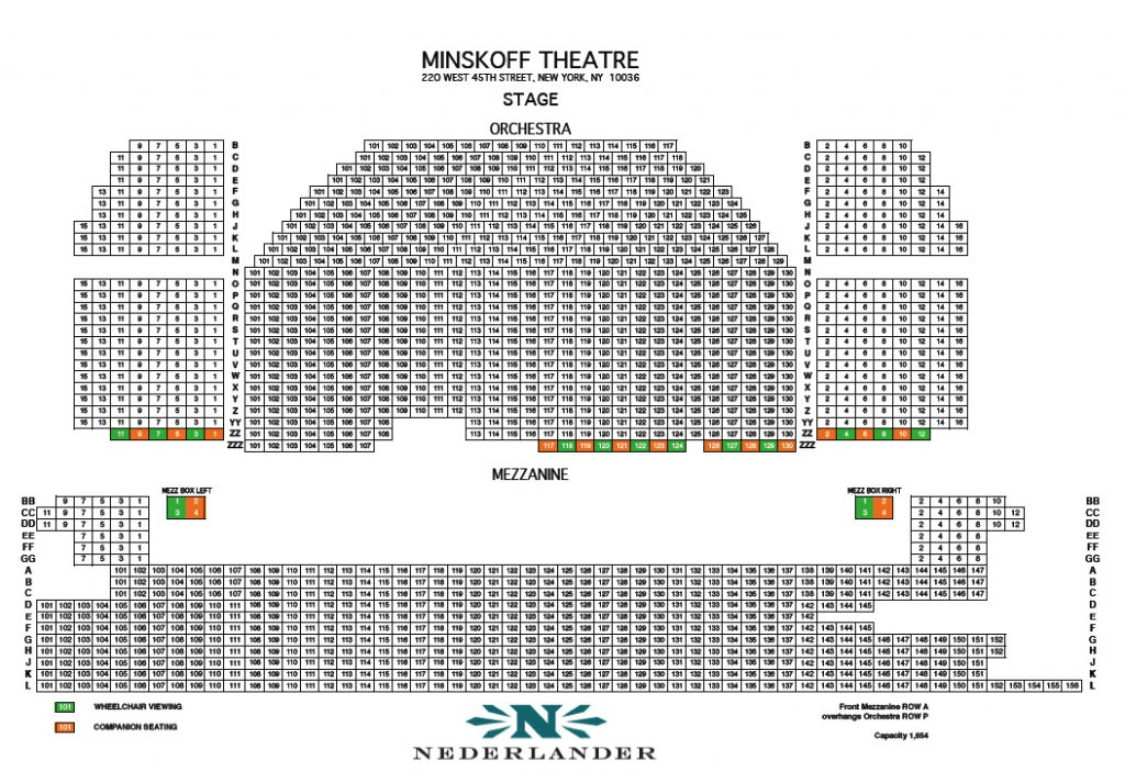 Minskoff theatre seating chart and access information