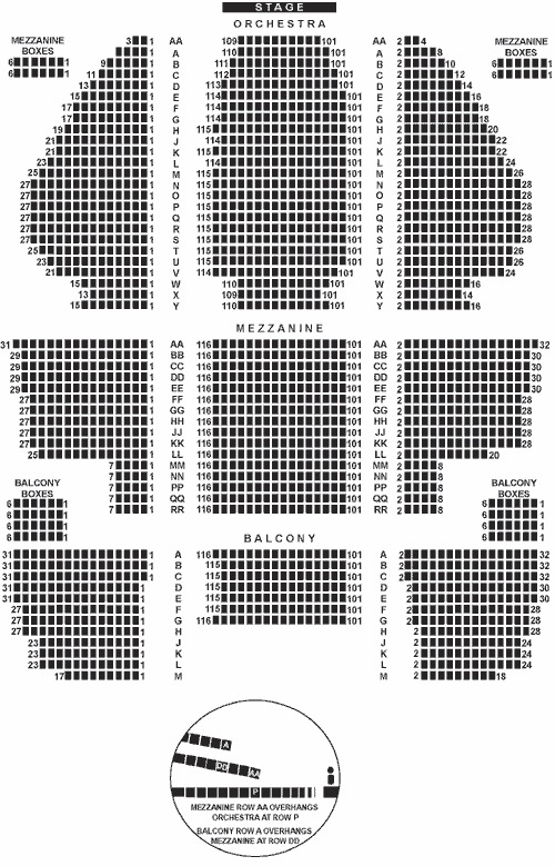 New amsterdam theatre seating chart and access infomation