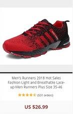 Mens Runner-red-black-hot