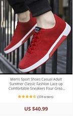 Mens Red Sneaker