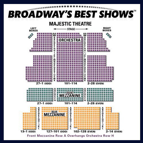 Majestic Theatre Seating Chart