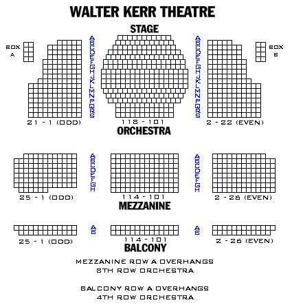 Seating Chart August Wilson Theatre